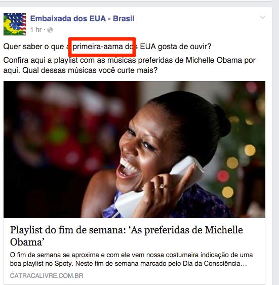 Importante ficar atento ao português.