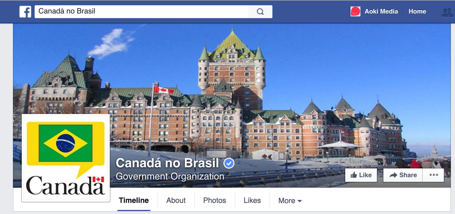Foto de capa da Embaixada do Canadá no Brasil.