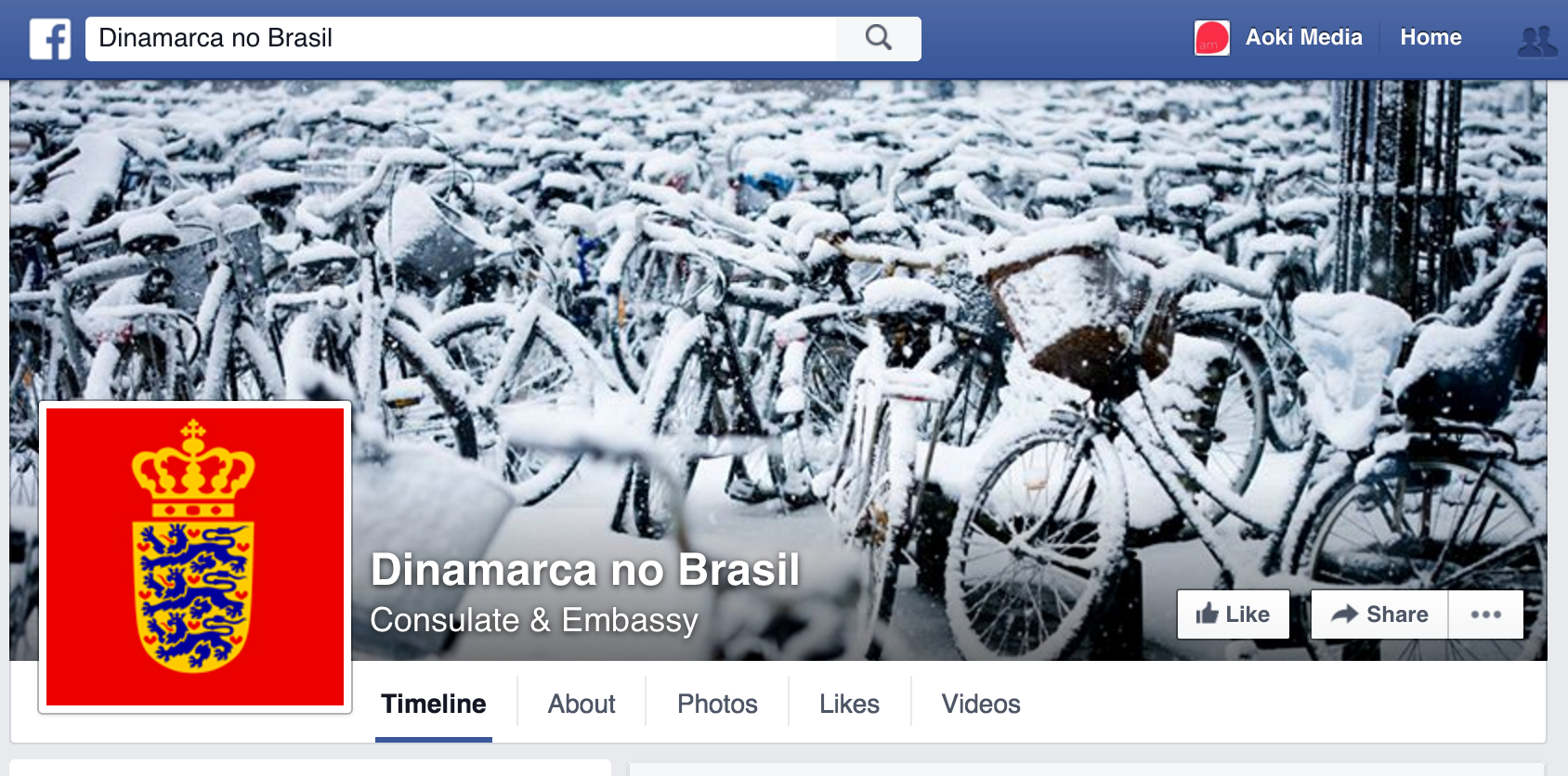 Foto de capa da Embaixada da Dinamarca no Brasil.