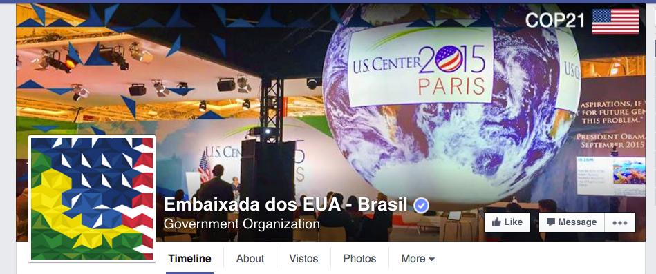 Foto de capa da Embaixada dos Estados Unidos.