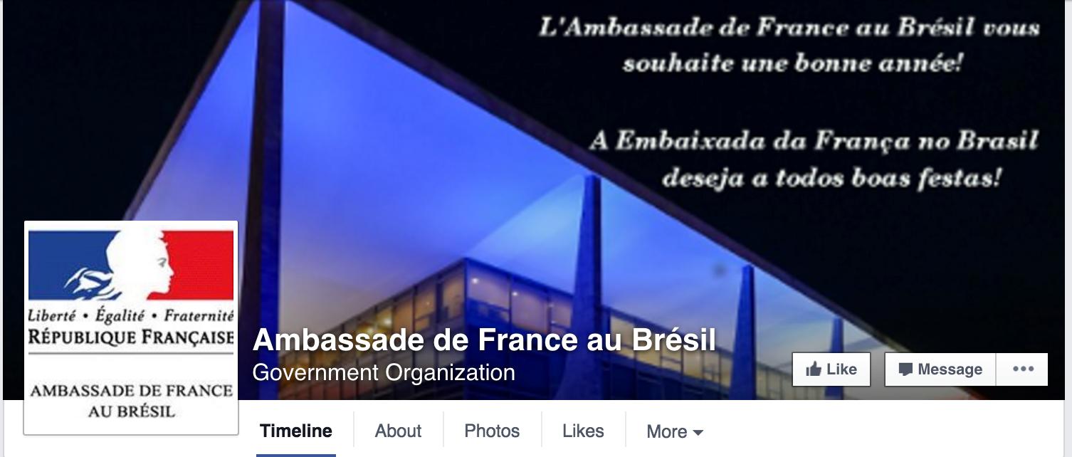Foto de capa da Embaixada da França.