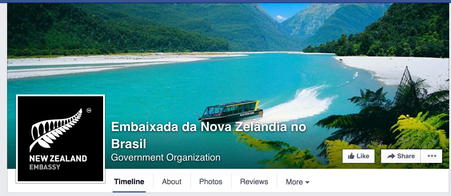 Foto de capa da Embaixada da Nova Zelândia no Brasil.