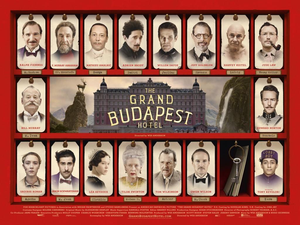 """Elenco do filme """"Grande Hotel Budapeste""""."""